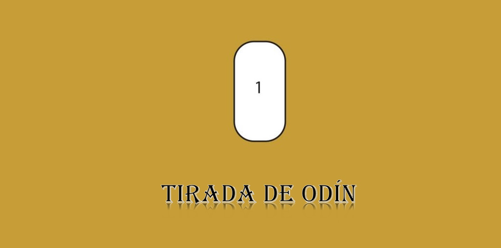 Runas vikingas tirada de Odín